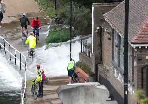Burst Water Main Creates Cascade of Floodwater for London Cyclists [Video]
