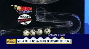 Mega Millions lottery jackpot grows to $405 million for the October 5, 2018 drawing [Video]