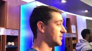 Kyle Hendricks and Pedro Strop react after the Cubs' season-ending loss [Video]