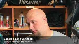 VIDEO: Eagles T Lane Johnson says offense is rounding back into form [Video]