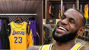 LeBron James Takes Over Kobe's Locker: Watches CAVS Game In Lakers Upgraded Locker Room [Video]