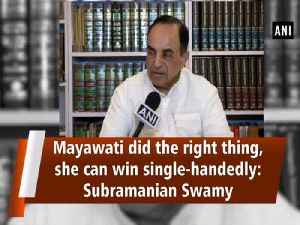 Mayawati did the right thing, she can win single-handedly: Subramanian Swamy [Video]