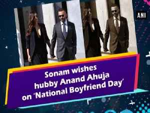 Sonam wishes hubby Anand Ahuja on 'National Boyfriend Day' [Video]