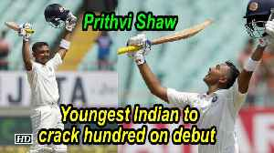 IND VS WI | Prithvi Shaw youngest Indian to crack hundred on debut [Video]