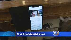 First Test Of National Alert System Begins -- Not Everyone Receives It [Video]