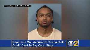 Man Who Used Stolen Credit Cards To Pay Court Fines Charged With ID Theft [Video]