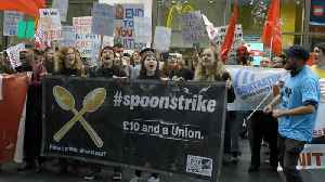 Fast Food Workers On Strike [Video]