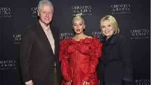 Hillary and Bill Clinton Look Like Christina Aguilera's Proud Parents In This Photo [Video]