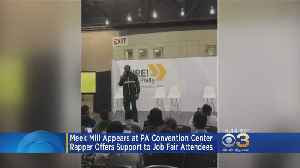 Meek Mill Appears At PA Convention Center To Offer Support To Job Seekers [Video]