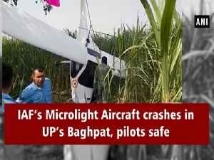 IAF's Microlight Aircraft Crashes in UP's Baghpat, pilots safe [Video]