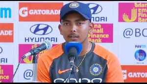 India Vs West Indies : Prithvi Shaw shares first International Match experience | वनइंडि&#x9 [Video]