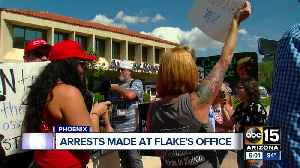 4 arrested in protest at Sen. Flake's office over Kavanaugh nomination [Video]