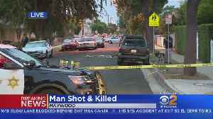 News video: Man On Bicycle Wanted In Fatal Maywood Shooting