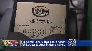 Tonight's Mega Millions Jackpot Climbs To $420 Million [Video]