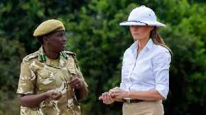 News video: Melania Trump Wore A Pith Helmet In Africa, Raising Eyebrows