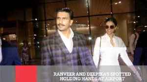 Ranveer And Deepika's Spotted Holding Hands At Airport [Video]