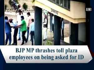 BJP MP thrashes toll plaza employees on being asked for ID [Video]
