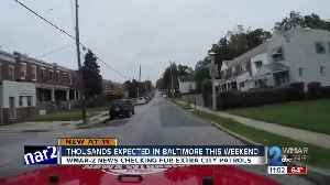 As city prepares for thousands, WMAR-2 News checked for increased police in city [Video]