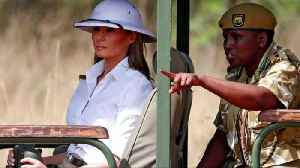 Melania hits back at critics of her white pith helmet [Video]