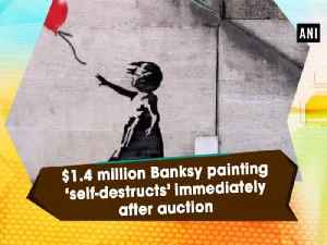 $1.4 million Banksy painting 'self-destructs' immediately after auction [Video]