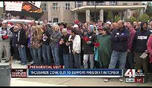 Thousands show up on cold, overcast day for Trump rally in Topeka [Video]
