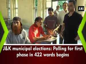 News video: J&K municipal elections: Polling for first phase in 422 wards begins