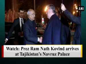 Watch: Prez Ram Nath Kovind arrives at Tajikistan's Navruz Palace [Video]
