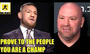 Conor McGregor should prove he's a fighter by defending his title against Tony Ferguson,Dana on Aldo [Video]