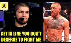 After i win title Conor McGregor has to get in the line he doesn't deserve to fíght me,Dana,octagon [Video]