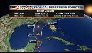 Tropical Depression #14 Sunday AM Update 10-7-18 [Video]