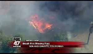 Brush fire dubbed Holy Fire spreading quickly in California [Video]