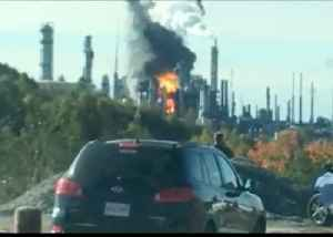 Fire Rages at Oil Refinery Plant in Saint John [Video]
