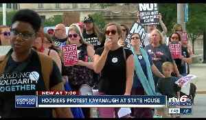 Hoosiers protest Kavanaugh at Indiana State House [Video]