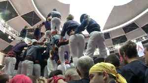 Human tower competition in Catalonia kicks off with pro-independence protest [Video]