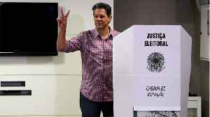 News video: Brazil's Haddad Says Presidential Runoff Will Pit Neo-Liberalism Against Social Gains