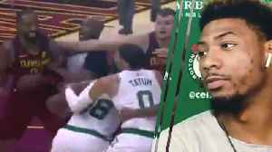 JR Smith Hilariously Trolls Marcus Smart After Cavs vs Celtics Fight [Video]
