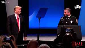 President Trump Honors Officer Mark Dallas At IACP Event [Video]