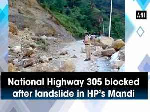 National Highway 305 blocked after landslide in HP's Mandi [Video]