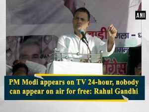 PM Modi appears on TV 24-hour, nobody can appear on air for free: Rahul Gandhi [Video]
