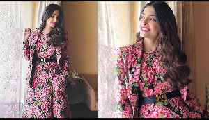 Sonam Kapoor looks super cute in her floral pink dress | Boldsky [Video]
