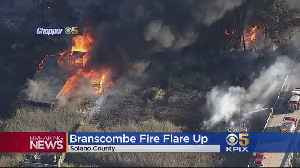 Branscombe Fire Flare Up Consumes Structure On Grizzly Island [Video]