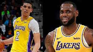 LeBron James Shows Major Love For Lonzo Ball Hitting The Court Against The Golden State Warriors [Video]