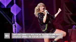 News video: Taylor Swift's Social Media Causes A Voter Registration Rush