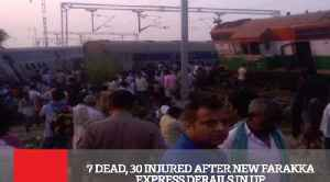 7 Dead, 30 Injured After New Farakka Express Derails In UP [Video]