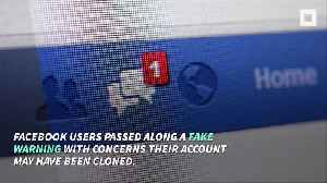 Fake Facebook Cloned Account Message Goes Viral [Video]