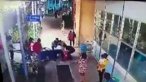 Bungling staff drop patient off hospital trolley [Video]
