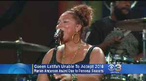 News video: Queen Latifah Will Not Be This Year's Marian Anderson Award Winner