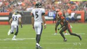 Ravens' Flacco on lining up at wide receiver [Video]