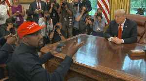 News video: Kanye West steals spotlight from Trump in Oval Office
