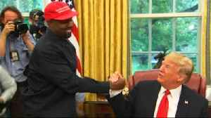 Kanye West Hugs President Trump During White House Visit [Video]
